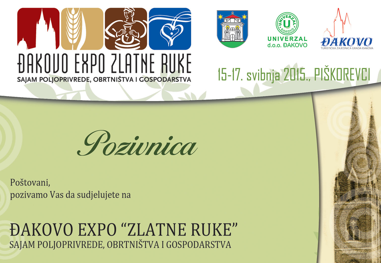 ĐAKOVO EXPO ZLATNE RUKE 2015