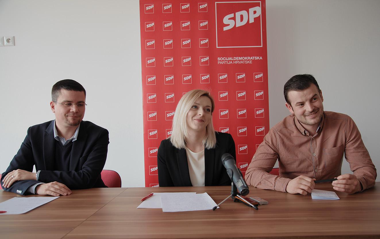 Predstavljanje SDP-ovih kandidata za gradonačelnika i zamjenike