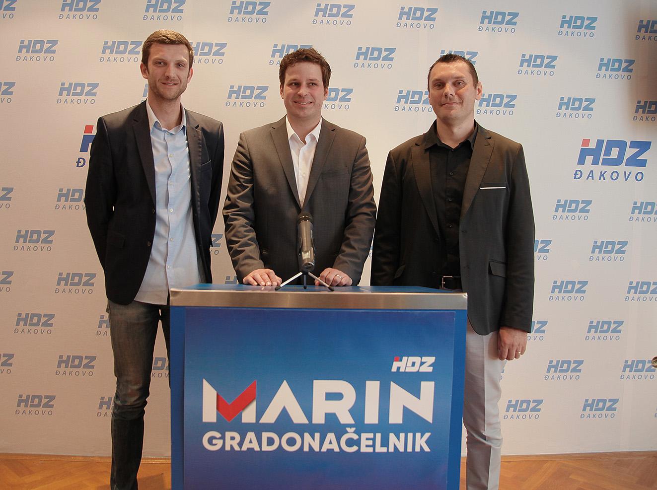 HDZ ĐAKOVO – predstavljanje kandidata za dogradonačelnike