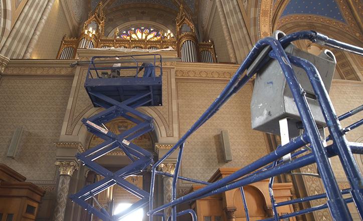 Početak demontaže orgulja u katedrali
