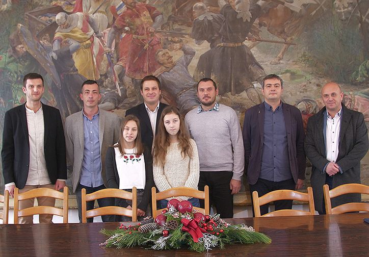 Učenice OŠ J.A. Ćolnića – prijem kod gradonačelnika Marina Mandarića